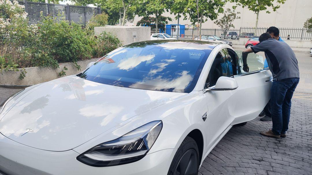 Resultado Instalação Paint Protection Film Tesla